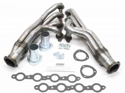 Patriot Headers - Patriot Clippster Headers - Patriot Exhaust Products - 73-87 C-10 73-91 Blzr LS Mid Length Raw