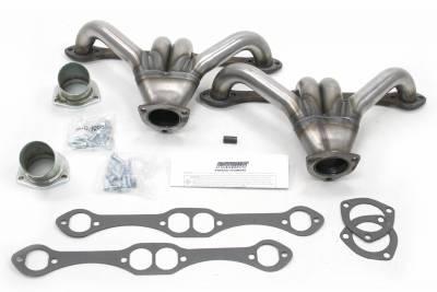 Patriot Headers - Patriot Tight Tuck Headers - Patriot Exhaust Products - Street Rod 348-409 Tight Tuck Raw Steel