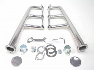 Patriot Headers - Patriot Lakester Headers - Patriot Exhaust Products - Street Rod Flathead Lakester Silver