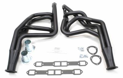 Patriot Headers - Patriot Full Length & Fenderwell Headers - Patriot Exhaust Products - 65-78 Various Chry 383-400 Lng Tube Blk