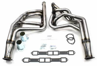Patriot Headers - Patriot Full Length & Fenderwell Headers - Patriot Exhaust Products - 65-78 Various Chry 383-400 Lng Tube Raw