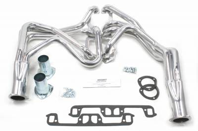 Patriot Headers - Patriot Full Length & Fenderwell Headers - Patriot Exhaust Products - 67-80 Various Chry 273-360 Lng Tube Slvr