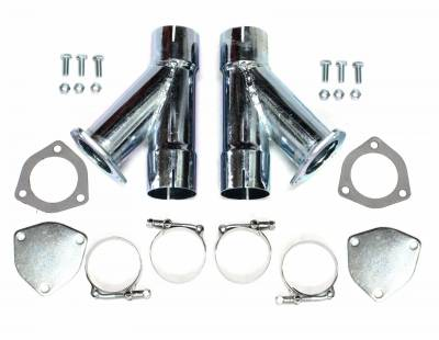 Patriot Exhaust H1130 Exhaust Cut-Out Hookup Kit 2 1/2 Inch Pair