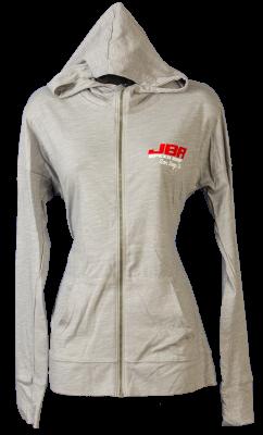 JBA Women's Heather Grey Hooded Zipper